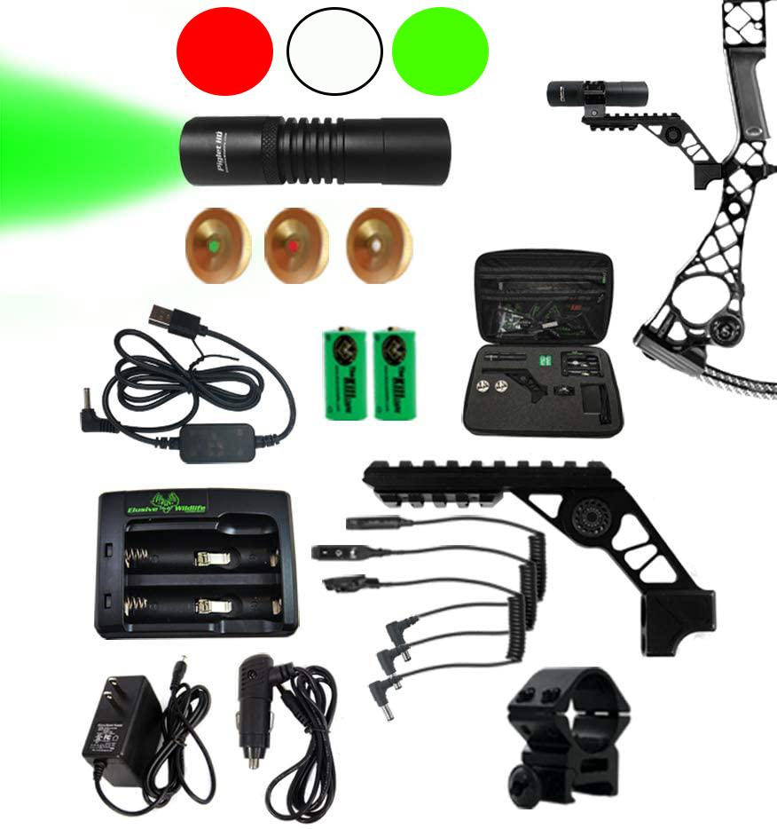 Серия портативных фонарей для охоты с луком Kill Light Piglet HD PRO с регулируемым потоком света предназначена для дистанций охоты до 150 метров.