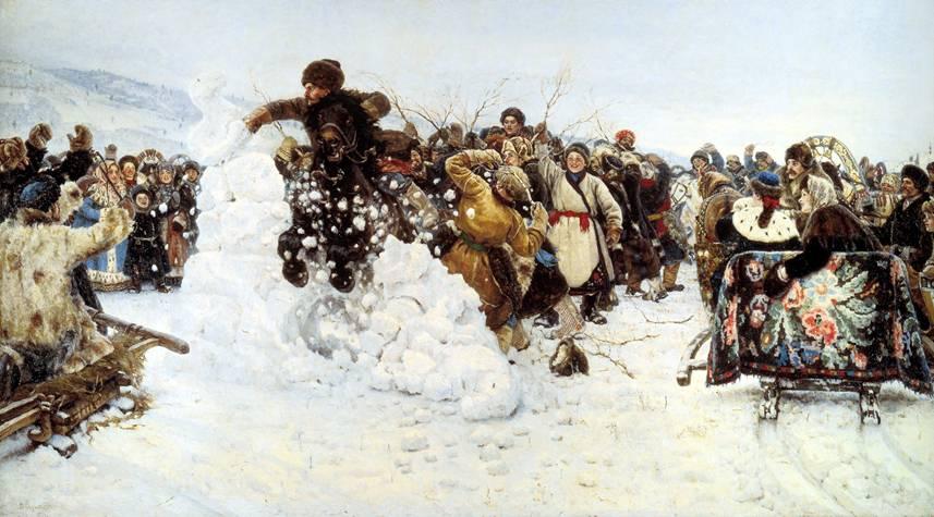 Суриков В.И. — Взятие снежного городка (1891 год)