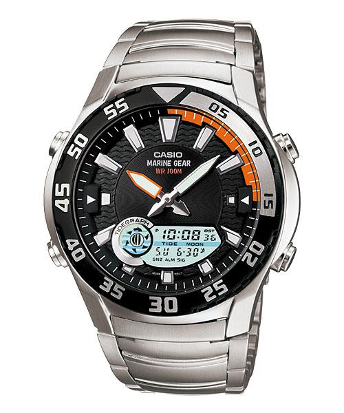 Casio OutGear AMW-710D- 1A: практичные наручные часы для подводного охотника, рыболова и путешественника