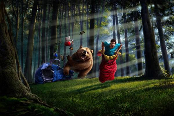 В лесу если заблудился в лесу