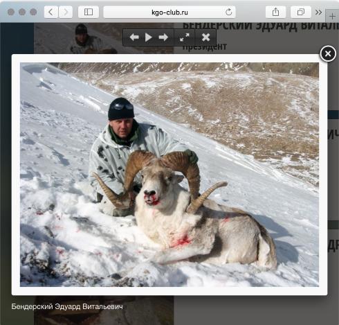Эдуард Бендерский браконьерская охота