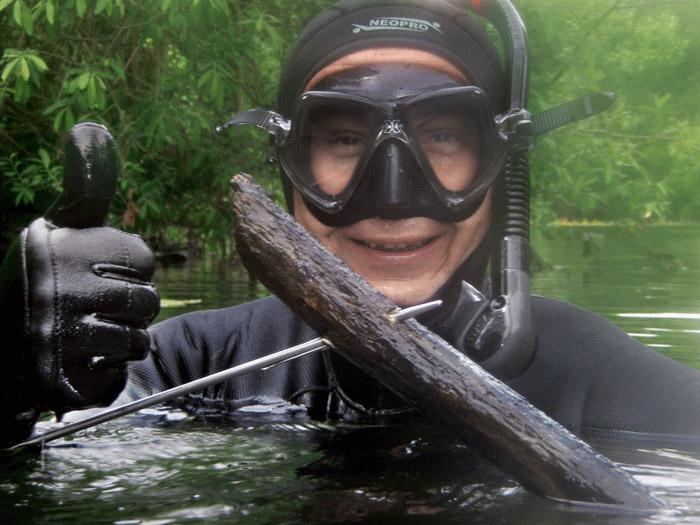 Подводная охота, первое погружение под воду, подвоху, куда нырнуть, Подводная охота на малых и средних реках, Подводная охота в горных реках, Подводная охота в равнинных реках, Подводная охота в озерах, карьерах и водохранилищах