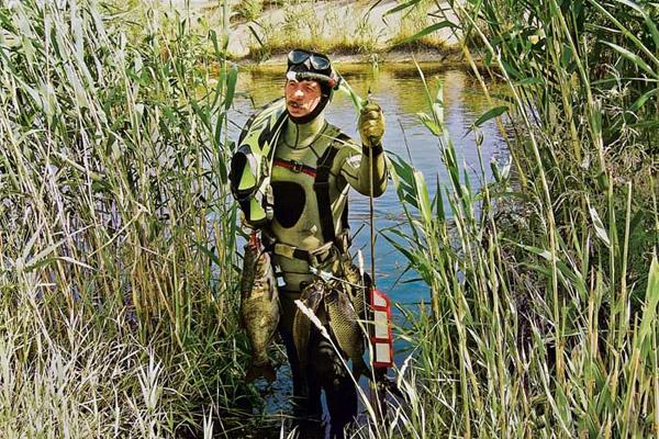 Подводная охота, снаряжение для подводной охоты, подводная охота весной, весенняя подводная охота, подводная охота в Дельте Волги, весенний сезон подводной охоты