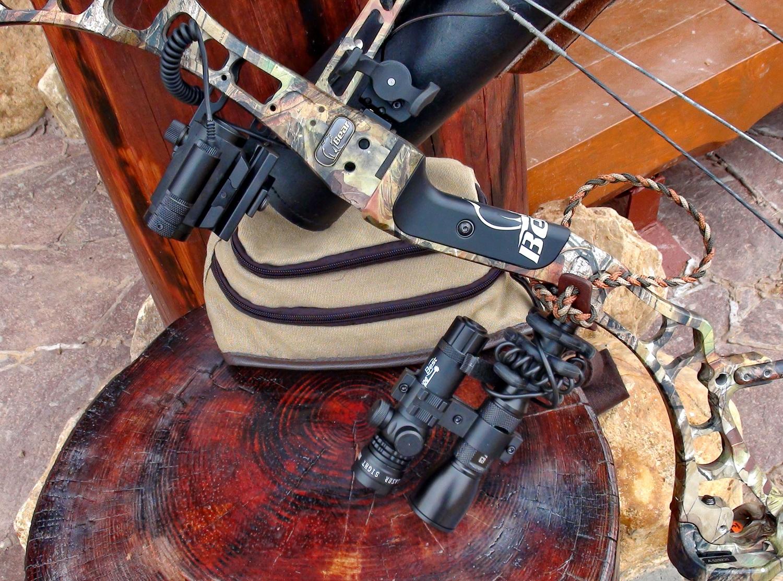 Лазеро-коллиматорные прицелы для блочных охотничьих луков, пристрелка лазеров и коллиматоров на блочных луках