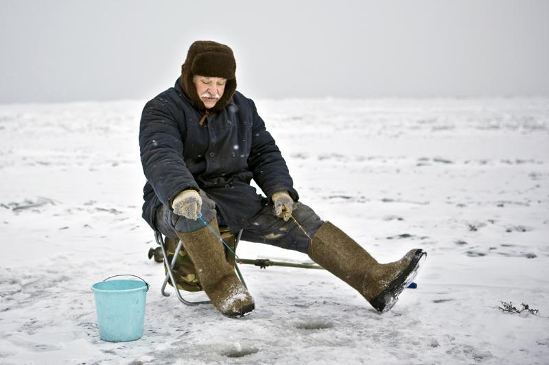 Что раньше одевали на зимнюю рыбалку?