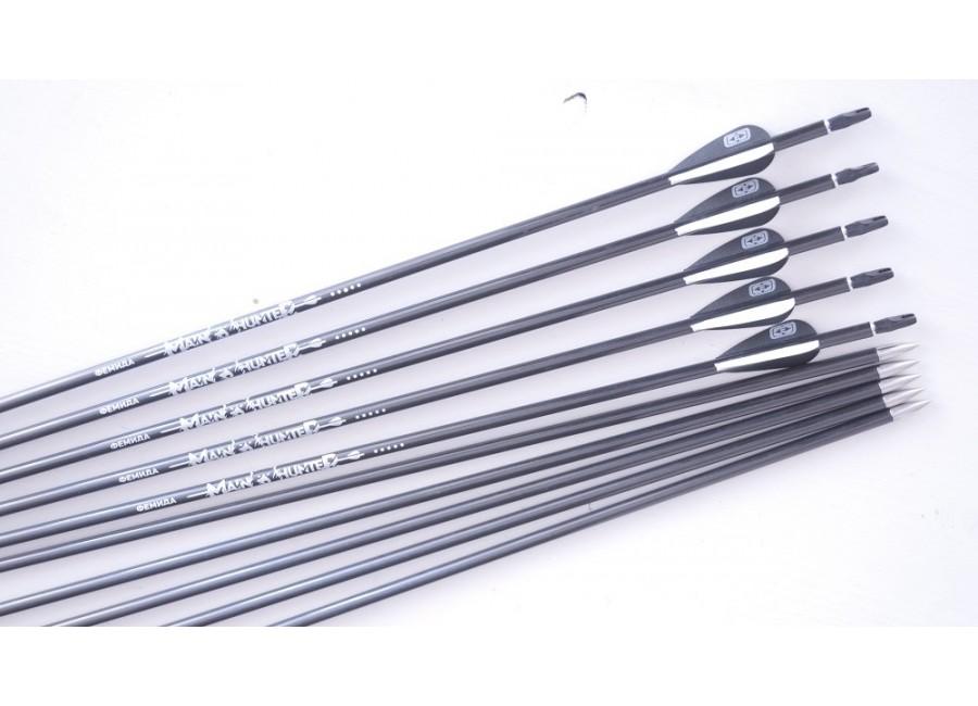 Тонкая карбоновая стрела за 980р - 3х-слойный карбон. Пин-нок. Острый тяжелый наконечник из нержавейки с длинным инсертом, и двумя боб-нарезами для регулировки веса наконечника. Для спортивной стрельбы штатный наконечник может заменяться на существенно более легкие разновидности с удаленными боб-пенетраторами. Main Hunter