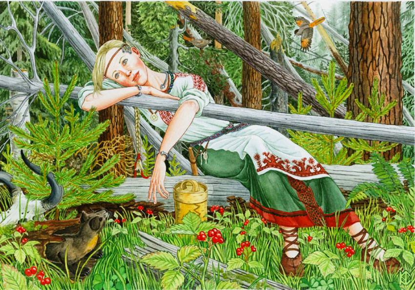 Девки собирают ягоды фото 4