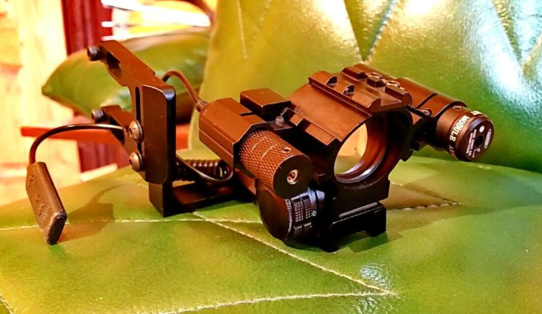 Лазерно-коллиматорный прицельный комплекс для охотничьего лука NEC Bow Laser Collimator system National Explorer