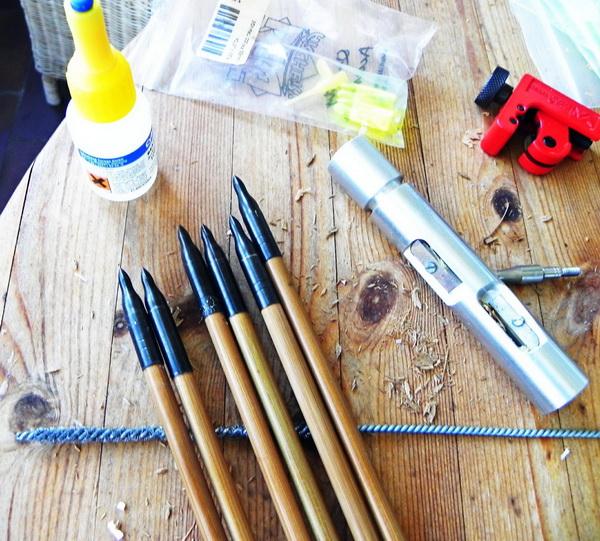 как самому сделать стрелы для лука.