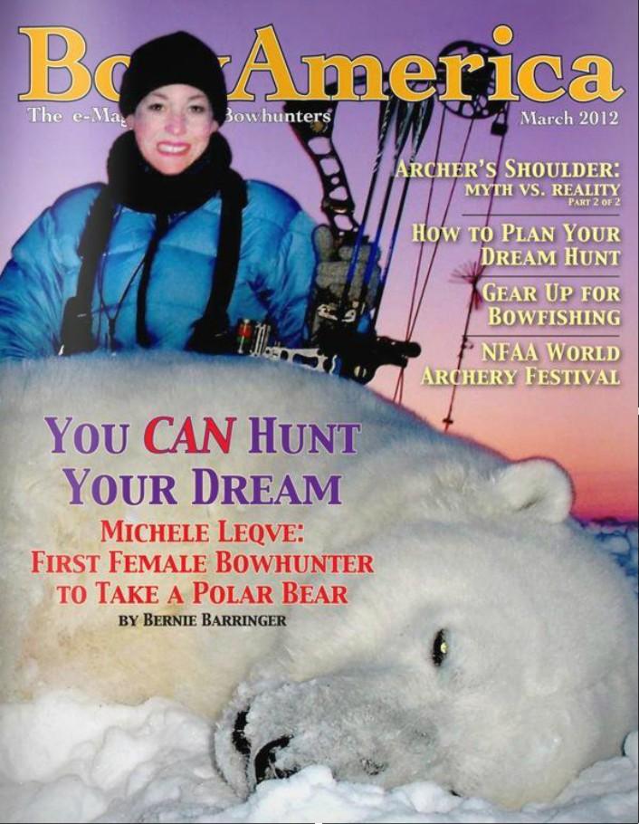 Первая женщина-лучница, добывшая белого медведя