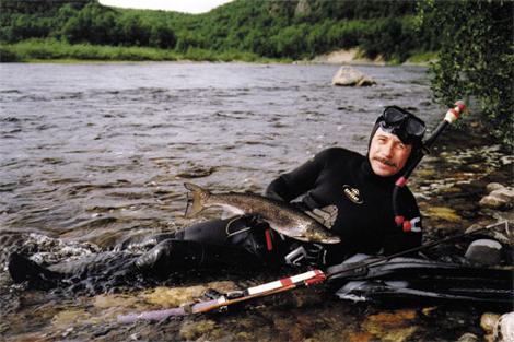 Валерий Виноградов: Трофеи подводной охоты - рыбы быстрых рек