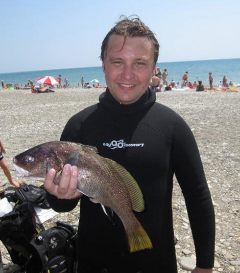 Подводная охота на Черном море - трудный горбыль в Андреевке